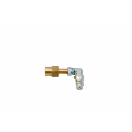 Co2 Bottle Connector - Angle 90 °- Quick connector Male